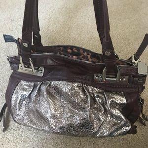 B Makowsky leather hand bag